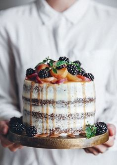 A peach carrot cake with cream cheese frosting