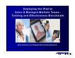 Deploying I Pad to sales and managed marketing teams