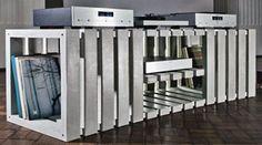 Thorax Modular HiFi racks, made from concrete