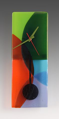 Prism+Pendulum+Clock by Nina+Cambron: Art+Glass+Clock available at www.artfulhome.com