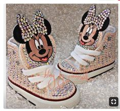 275dfbed3ff7 Custom Minnie Mouse Converse by ABlingbySimonellc on Etsy · Bling ConverseCustom  ConverseBaby ...