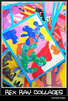 PAINTED PAPER: Painted Paper Collages