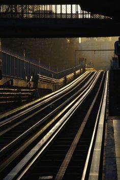 ©Vincent Brun Hannay Paris Métro  station Glacière Urban Photography, Color Photography, Les Gobelins, Metro Paris, Have A Nice Trip, Paris City, City Limits, Train Tracks, Brown Beige