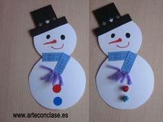 muñeco de nieve de Arte con clase