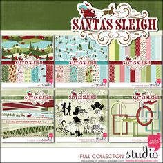 Here comes Santa Claus! Here comes Santa Claus! Right down Santa Claus Lane! In his sleigh, of course! This super chic Christmas line will get you dancing to the happy jingling of the sleigh bells.Buying this as a collection is like getting a little more