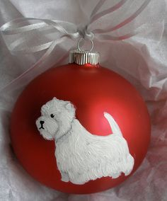 Westie Ornament - Can be personalized