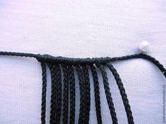 Недавно я плела колье и мне захотелось украсить его чем-нибудь необычным. И, после N-ного количества попыток, я придумала плетеную бусину, которая прекрасно вписалась в это самое украшение. И сегодня я хочу с вами поделится схемой плетения этой бусины. Вам понадобится: 1. Вощеная нить — 3 м. 2. Бисер диаметром 2-3 мм. (у меня Toho 8/0). Для того, чтобы было понятнее, как это плетется, я отметила рабочие нити синим цветом, а нити основы красным.…