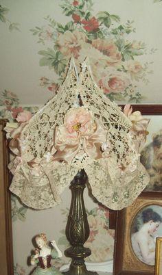 lace lampshade,beautiful.........