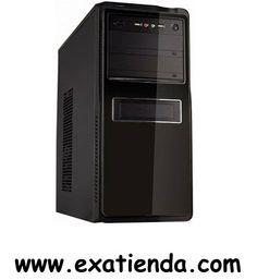 """Ya disponible Caja semitorre uk 8017 negra                  (por sólo 34.98 € IVA incluído):   -Formato:semiTorre ATX(Admite placas ATX, MATX e ITX) -Bahias externas: 2 x 5.25"""" 1 x 3.5"""" -Bahias internas: 1 x 5.25"""" 4 x 3.5"""" -Conectores frontal: 2 x USB 1 x Mic 1 x auriculares -Ventilador adicional:1 ventilador de 8 cm. Trasero. Admite refrigeración líquida. -Fuente: 500W ventilador silencioso 12 cm. Doble alimentación S-ATA. -Medidas (anch x alt x prof ): -Display:NO -C"""