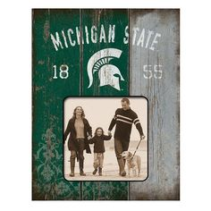 "Legacy Athletic Michigan State Spartans Weatherboard 4"" x 4"" Picture Frame, Multicolor"