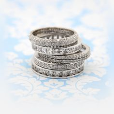 Stacked Wedding Bands - Wear them alone or with your engagement ring!