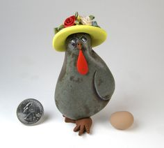 SPRING CHICKEN. Painted rock Painted Stone Rock Hen by qvistdesign, $20.00