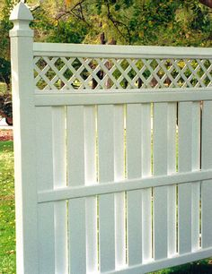 white vinyl privacy screen | Straight Vinyl Picket Panels Pricing | Buy-Fence.com