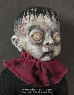creepy dolls.. I may try to make my own
