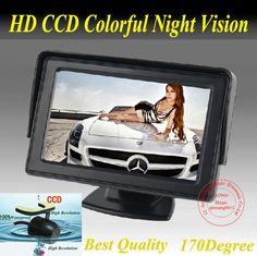 NEW 4.3 inch LCD Monitor+170 degree Reverse Camera Car Rear View Kit car camera free 5m cable parking sensor camera parking kit