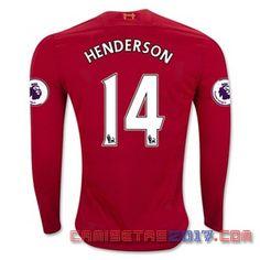 Camiseta manga larga Henderson Liverpool 2016 2017 primera
