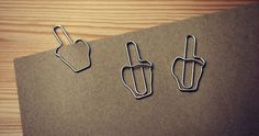 Middle Finger Paperclip