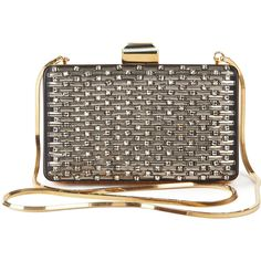Lanvin Embellished Satin Box Clutch ($1,870) ❤ liked on Polyvore