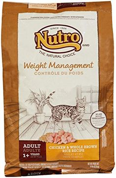 The Nutro Company Weight Loss Adult Cat Food with Chicken and Whole Brown Rice Formula, 14-Pound * You can find out more details at the link of the image.