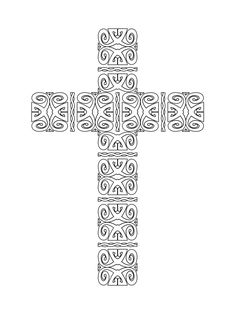 Free Printable Crosses Coloring Pages