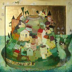 Imerlishvili, Otar Island 2007 Oil, (link has many illustration boards… Hieronymus Bosch, Moma, Georgie, Circle Quilts, Art Web, Web Gallery, London Art, Magazine Art, Art World