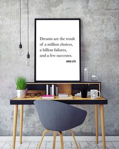 Jared Leto from 30 Seconds to Mars Inspirational Quote. Boyfriend Gift. Celebrity Quote. Printable Art. Office Print. Living Room Print