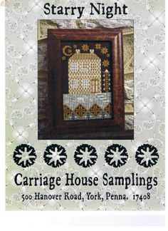 Carriage House Samplings, Starry Night.