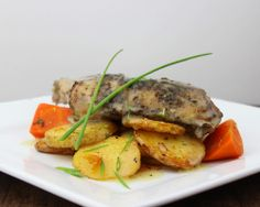 Lemon Pepper Chicken - Roasted Organic Chicken, braised winter roots, Yukon golds, citrus-pepper jus