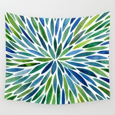 Buy Watercolor Burst – Blue & Green Wall Tapestry by Cat Coquillette. Worldwide shipping available at Society6.com. Just one of millions of high quality products available.
