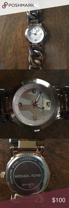 Michael Kors rose gold and tortoise watch In original box (with owner's manual), used but great condition. All links are attached Michael Kors Accessories Watches