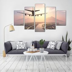 Posters HD Prints Home Decora Canvas Art 5 piece Airplane landscape Oil Painting Wall Pictures for Living Room New Year's Gife. Yesterday's price: US $28.90 (23.97 EUR). Today's price: US $17.34 (14.38 EUR). Discount: 40%.