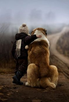 thegreyconcept:  Man's best friend by Elena Shumilova.