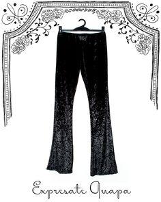 Pantalon Oxfort Chifon Tramado T.U. Negro