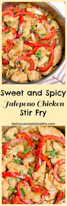 We had this for dinner last night and it was so good! Thai Sweet and Spicy Jalepeno Chicken Stir Fry. Soy-free and healthy.