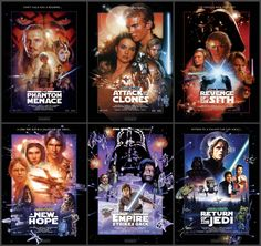 Star Wars Hexology... Episode I The Phantom Menace 1999...Episode II Attack Of The Clones 2002...Episode III Revenge Of The Sith 2005...Episode IV A New Hope 1977...Episode V The Empire Strikes Back 1980...Episode VI Return Of The Jedi 1983