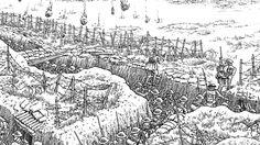 trench warfare diagram - Google Search