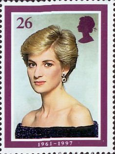 Diana, Princess of Wales Commemoration 26p Stamp (1998) In Evening Dress, 1987 (photo by Terence Donovan)