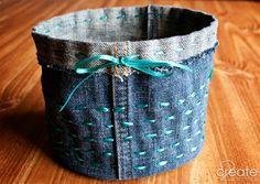 Just right to set beside me when I am doing handwork or embroidery. Everything fits! Love my original fabric bucket :) >>2createincolor.com