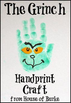 House of Burke: The Grinch Handprint Craft