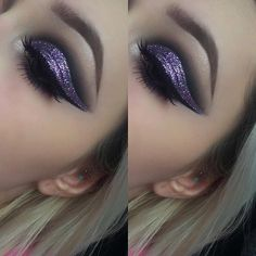 Absolutely loveee purple eye makeup, has to be my favourite!! I come up with a darker cut crease this time with lilac glitter all over the lid however I feel like my looks are all very similar, is there any looks you guys would like me to try?? Let me know