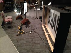 Tyler Bowen from Trinity Assembly of God in Mt Morris, MI brings us these versatile light boxes—changeable for any series/design. Assemblies Of God, Church Stage Design, Sports Graphic Design, Display Design, Set Design, Church Building, Stage Set, Stage Lighting, Building Design