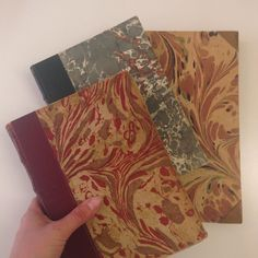 So beautiful books with marble and leather covers from the local thrift store  #marbling #marble #ebru #book #vintage #patterns #surfacedesign #crafts  #bookart #bookbinding #marmorering #marmor #leather #bøger #mønstre #håndværk #kunst #bogkunst #bogindbinding #læder #genbrugsguld #genbrug #genbrugsfund #secondhand #thriftstorefinds