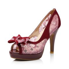 Sexy high heels women pumps cow split and lace vamp by LadiesShoes, $67.00