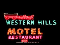Animated Neon Sign: Western Hills Motel