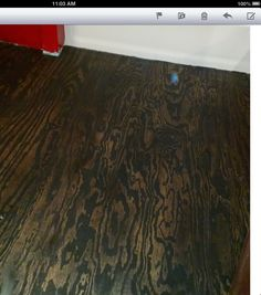 Sample Of Dark Grey Stain Stained Birch Plywood For