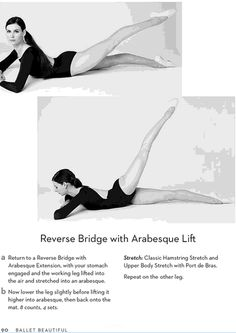 Reverse Bridge with Arabesque Lift