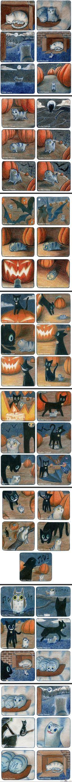 Kitten's nighttime adventure by Heather Franzen