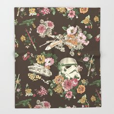 Throw Blanket featuring Botanic Wars by Josh Ln
