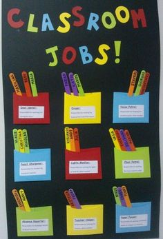 Excellent DIY Classroom Decoration Ideas & Themes to Ins.- Excellent DIY Classroom Decoration Ideas & Themes to Inspire You Astonishing classroom decorating ideas for grade - Classroom Board, New Classroom, Classroom Design, Classroom Organization, Classroom Jobs Display, Classroom Job Chart, Kindergarten Classroom Jobs, Classroom Helper Chart, Class Jobs Display
