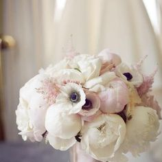 peonies and anenomes! Wedding flowers n wedding colors